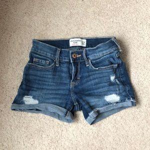 Abercrombie kids midi denim shorts
